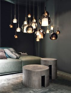 Most Beautiful Lighting Chandeliers For Your Home. We brought together the ideas of unique and beautiful lighting home deco from each other. With these lights, your home will look perfect. Everyone will be amazed at your home. Cool Lighting, Modern Lighting, Lighting Design, Pendant Lighting, Pendant Lamps, Lighting Stores, Chrome Ceiling Rose, Loft Interiors, Luminaire Design