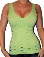 Sexy seamless stretchy fitted cami cleavage top of nylon/spandex in one size fits most.