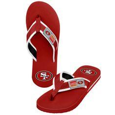 f0e5845564f San Francisco 49ers Locker Label Contour Flip Flops