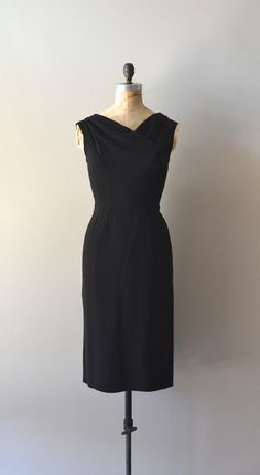 Still of the Night dress / vintage black 60s dress / by DearGolden