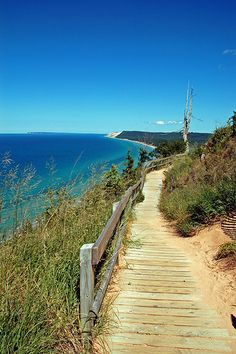 Sleeping Bear Dunes -- When Devil's Fork was still there.