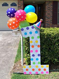 Miss Charlies 1st Birthday Rainbow Party Facebook LittleMissCharliesTreasures Outdoor Decorations