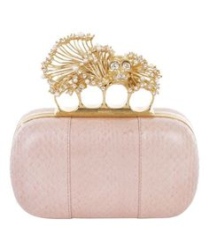 Alexander McQueen - Flesh Anenome Whipsnake Short Knucklebox Clutch