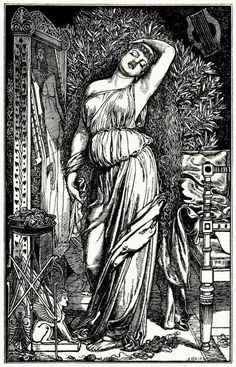 My Ear-Trumpet Has Been Struck By Lightning, le-prix-d-amour: Frederick Sandys - Danae. The Lady Of Shalott, Pre Raphaelite Brotherhood, Roman Mythology, Hobby Horse, Lightning Strikes, Wood Engraving, Erotic, Art Gallery, Trumpet