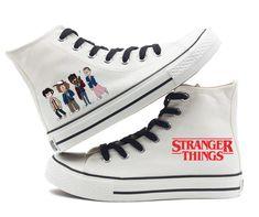 Converse Shoes For Girls, Vans Girls, Girls Shoes, Surf Girls, Stranger Things Jewelry, Finn Stranger Things, 11 Stranger Things Costume, All Star, Eleven 11