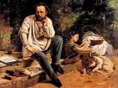 Portrait of P.J Proudhon (prominent radical thinker of nineteenth century) by artist Gustave Courbet, 1865.