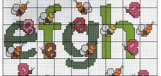 cross stitch alphabet PART 2