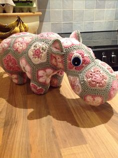 Ravelry: Project Gallery for Happypotamus The Happy Hippo pattern by Heidi Bears