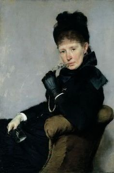 Portrait of Swedish Painter Jeanna Bauck by Bertha Wegmann, 1887