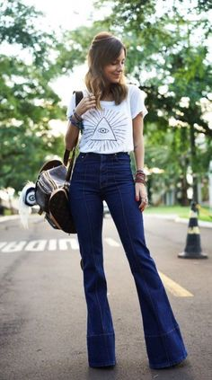 Fashion Tips Outfits .Fashion Tips Outfits Summer Outfits, Casual Outfits, Cute Outfits, Looks Style, Casual Looks, 70s Fashion, Fashion Outfits, Hijab Fashion, Korean Fashion