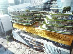 Chongqing Xinhua Bookstore Group Jiefangbei Book City Mixed-use Project | Aedas | Architecture | Mixed-use | Chongqing, PRC