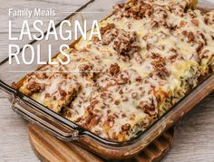 Lasagna RollsThe next time you're in the mood for lasagna, don't layer it – just roll it! This family-friendly dinner comes together in about an hour. Ingredients • 1 box Barilla® Wavy Lasagne • 1 jar...