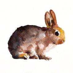 CUSTOM BUNNY PORTRAIT Original watercolor painting 8X10inch
