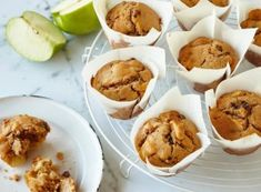 Treat the family to these tasty apple muffins - the kids, in particular, will love them!Treat the family to these tasty apple muffins - the kids, in particular, will love them! Raisin Muffins, Apple Cinnamon Muffins, Lemon Muffins, Cinnamon Apples, Muffin Recipes, Apple Recipes, Sweet Recipes, Baking Recipes, Cake Recipes