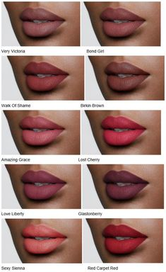 Charlotte Tilbury Matte Revolution Luminous Modern-Matte Lipsticks – Dark Skin – Care – Skin care , beauty ideas and skin care tips Lipstick For Dark Skin, Dark Skin Makeup, Liquid Lipstick, Lipstick Set, Makeup Lipstick, Chanel Lipstick, Dark Red Lips, Perfect Lipstick, Brown Makeup