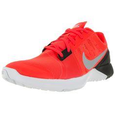 dfe58397cb5a Nike Men s Fs Lite Trainer 3 Total Orange Metallic Platinum Black Bright  Mesh Training Shoe