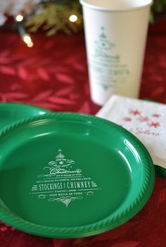 This Christmas tree design is so cute - can you imagine a cookie and dessert bar with these adorable plates for guests to load up? They are almost too cute to eat off of... almost!