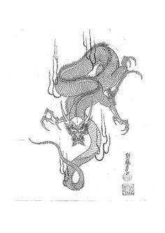 dragons, snakes, birds, skulls Jack Mosher Japanese Tatoo, Japanese Dragon Tattoos, Japanese Art, Tattoo Sketch Art, Art Sketches, Art Drawings, Japan Tattoo Design, Dragon Tattoos For Men, Asian Tattoos