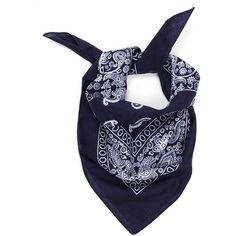 With The Band Paisley Bandana NAVY (81 THB) ❤ liked on Polyvore featuring accessories, blue, blue bandana, navy blue bandana, blue handkerchief, paisley handkerchief and paisley bandana