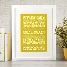 Are you interested in our christmas gift for him? With our personalised song lyric poster you need look no further.