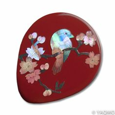 Raden Lacquerware Mirror - Sakura