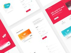 Giftcards Landing Page by Ranjith Alingal #Design Popular #Dribbble #shots