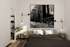 Apartment renovation in Florence, render for various project ideas Apartment Renovation, Baby Boy, House Design, Bedroom, Projects, Furniture, Home Decor, Interiors, Log Projects