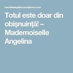 Totul este doar din obișnuință! – Mademoiselle Angelina Blog, Blogging