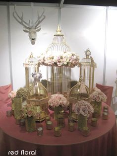 Birdcages gone luxe! Such a big trend right now