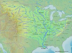 map of the mississippi river basin shows why control of the mississippi river was so important to settlers between the appalachian mountains and the river