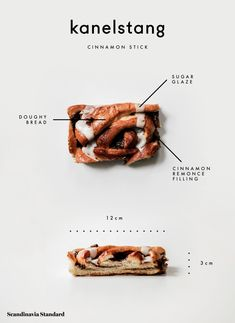 Every Danish Pastry You Need to Try in Copenhagen - Kanelstang - Cinnamon Stick Food Poster Design, Menu Design, Food Design, Sweet Pastries, Danish Pastries, Pastry Logo, Danish Dessert, Lab, Savory Pastry