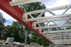 Easi-Joists - ETS Engineered Timber Solutions Ltd Steel Structure Buildings, Timber Structure, Building Structure, Building Materials, Building Design, Building A House, Steel Frame House, Steel House, Casas Containers