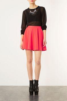 Sheer black top and skirt