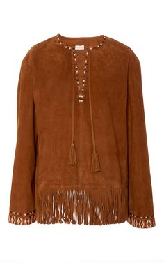 Suede Fringed Top by TALITHA for Preorder on Moda Operandi