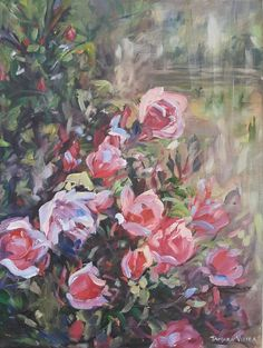 Buy Last Bloom, Oil painting by Tamara Vieira on Artfinder. Discover thousands of other original paintings, prints, sculptures and photography from independent artists. Oil Painting On Canvas, Impressionist, Lovers Art, Pink Roses, Buy Art, Original Paintings, Sculptures, Bloom, Scene