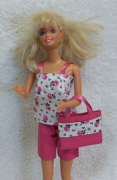 New Handmade Barbie Outfit Pink Shorts Pink  Pants by CedarPlus, $7.00