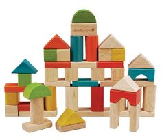 Fifty quality, smooth wooden building blocks by Everearth in a variety of shapes, sizes and colours can boost your child's creativity and dexterity as they learn to build from their imagination. Wooden Building Blocks, Wooden Blocks, Building Toys, Wooden Puzzles, Cubes, Cardboard Storage, Online Toy Stores, Wooden Buildings, Block Craft
