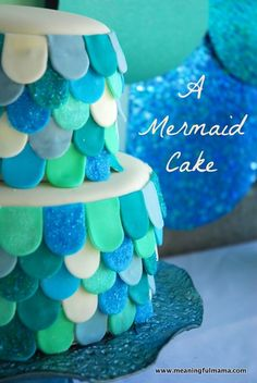 Mermaid Cake Tutorial - You can learn how to make this cake too.
