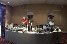 All set up @walthamabbeywool show.  by yarnbowl987