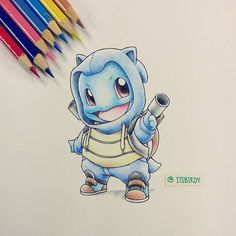 The Drawings Show Pokemons Dressed in Onesies of Their Evolved Forms