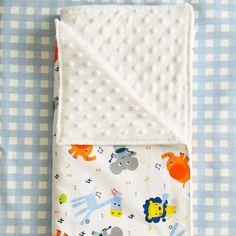 Minky Baby Blanket, Swaddle, Toddler, Cotton, Safari, Lion, Mouse, Elephant, Giraffe, Soft, White, Breathing, Handmade, Gift, Babyshower by EmotionalNursery on Etsy