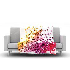 "Louise Machado ""Balance Purple"" Fleece Throw Blanket"