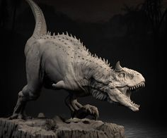 [image] Title: Carnotaurus Name: Jin Hao Villa Country: Philippines Software: ZBrush Submitted: January 2016 Posed this time around to show more character and attitude with added turntable and ready for print… Creature 3d, Creature Concept, Creature Feature, Creature Design, Jurassic World Dinosaurs, Jurassic Park World, Dinosaurs Live, Dinosaur Images, Dinosaur Art