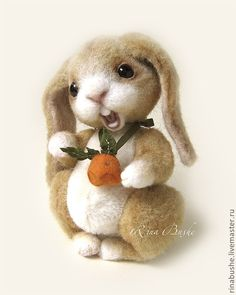 needle felted bunny by Rina Bushe