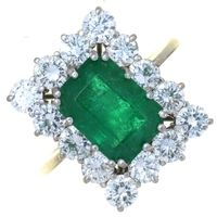 Mellors & Kirk | Auctions | Antique and Collector  This vibrant emerald and diamond ring sold for a hammer price of £1600 plus premium in our Antique & Collector sale today.  Free jewellery valuations are available every Saturday morning at our Nottingham saleroom.