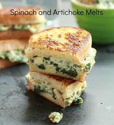 Spinach and Artichoke Melts | Totally Love It
