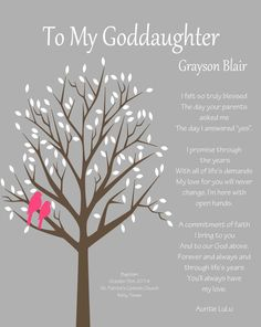 GODDAUGHTER gift Gift for Goddaughter by WhisperHills on Etsy