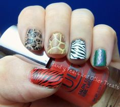 Hand-y Feats and Other Treats: 31 Day Challenge! Day 13: Animal Print