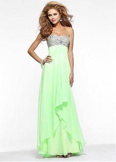 Wonderful Chiffon Sweetheart Neckline Floor-length A-line Prom Dresses