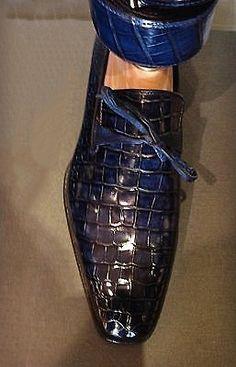 Alligator Skin Dress Shoes - Men Dress Shoe - Ideas of Men Dress Shoe Hot Shoes, Blue Shoes, Men's Shoes, Fashion Mode, Mens Fashion Shoes, Dress Fashion, Mens Shoes Boots, Shoe Boots, Loafer Shoes